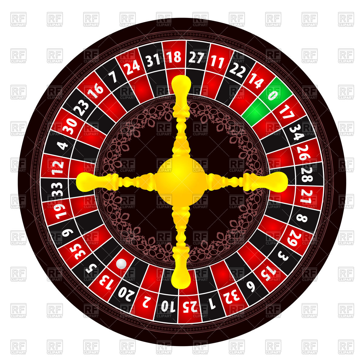 Casino roulette top view Vector Image #75655.