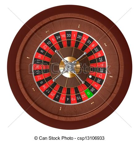Drawings of Casino roulette. Top view. csp13106933.