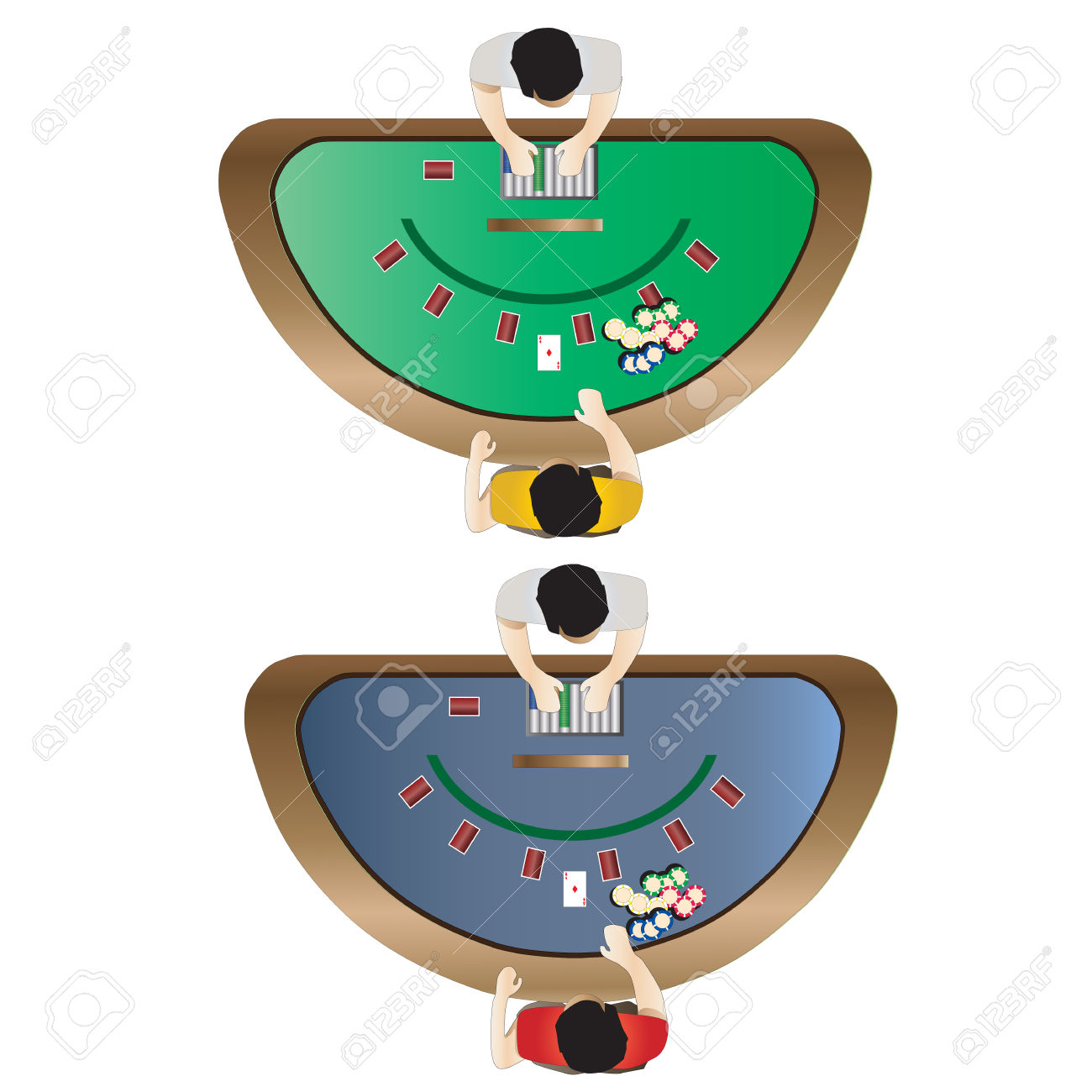 Casino Furniture , Blackjack Table Top View Set 3 For Interior.