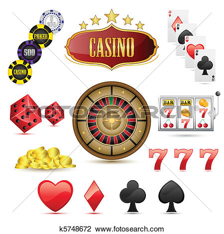 Clipart of Casino Icons k5748672.