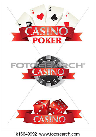 Clipart of Cards Chips Dice Poker Casino k16649992.