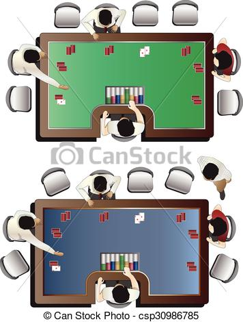 Vectors Illustration of Casino furniture ,Baccarat table top view.