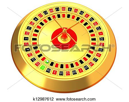 Clip Art of Roulette at the casino k12987612.