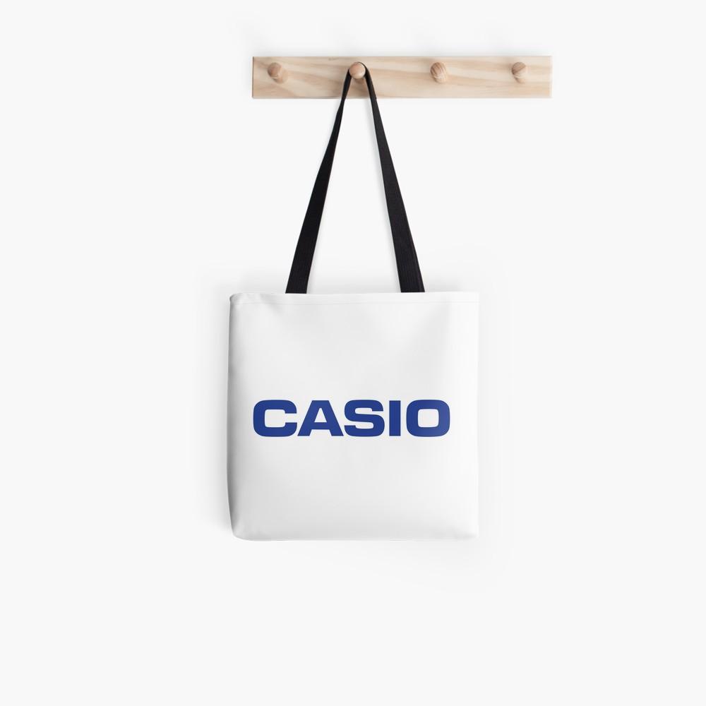 Retro Classic Blue Casio Logo.