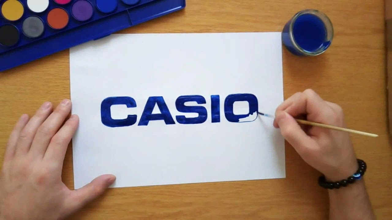 How to draw the Casio logo.