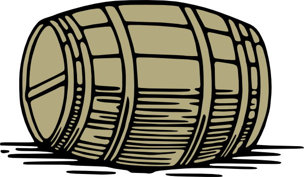 Whiskey Barrel Clipart.