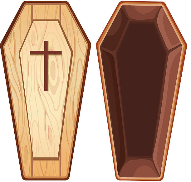 Best Coffin Illustrations, Royalty.