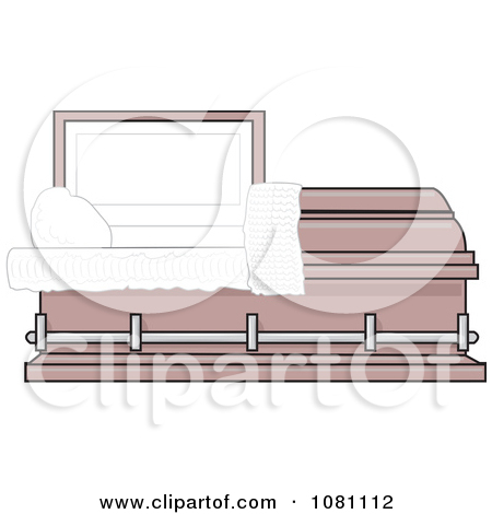 Clipart Empty Pink Burial Coffin Casket.