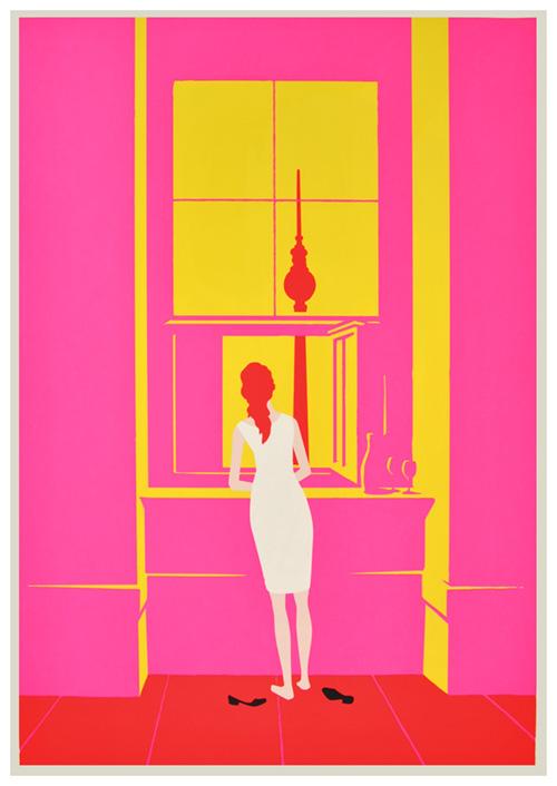 Christoph Niemann / Woman at the Window, after Caspar David.