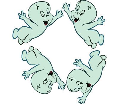 Cartoon Casper.