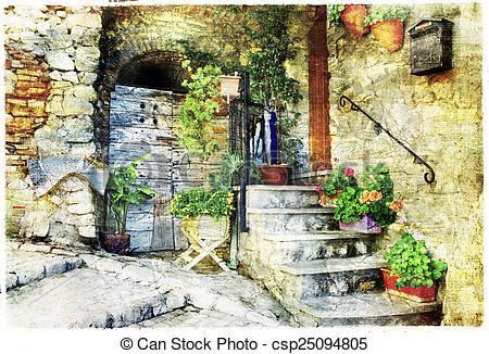 Stock Photography of Casperia, artistic picture.