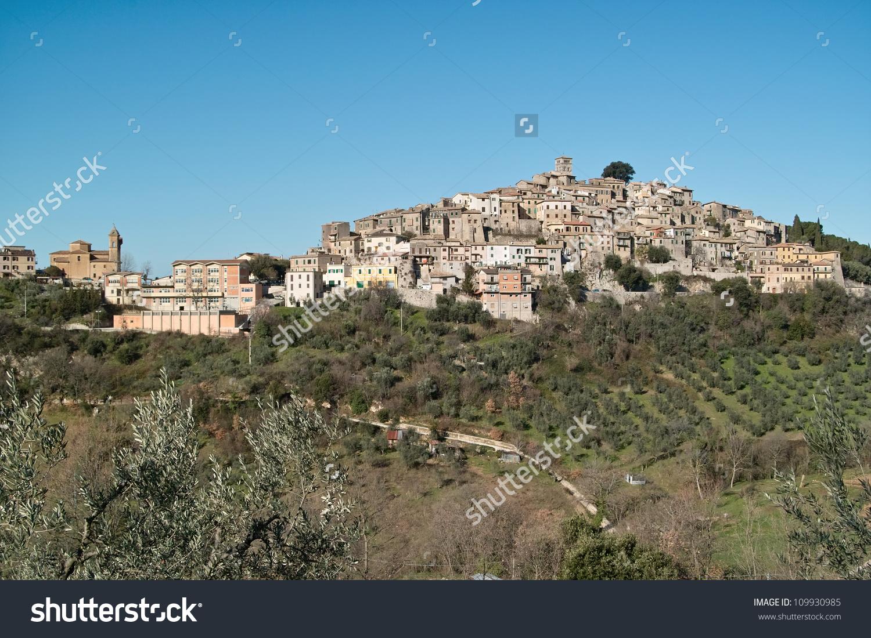 View Town Casperia Sabina Rieti Lazio Stock Photo 109930985.