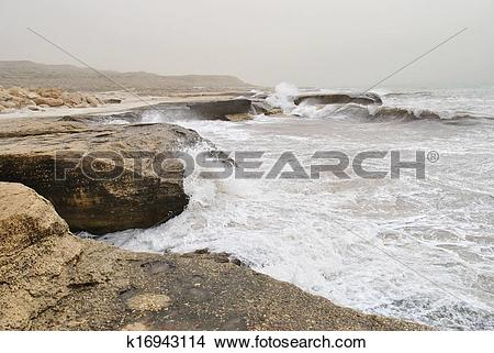 Stock Photo of Caspian Sea Coast k16943114.