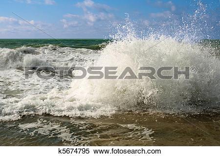 Stock Image of Shore of the Caspian Sea. k5674795.