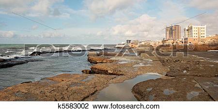 Stock Photo of Shore of the Caspian Sea. k5583002.