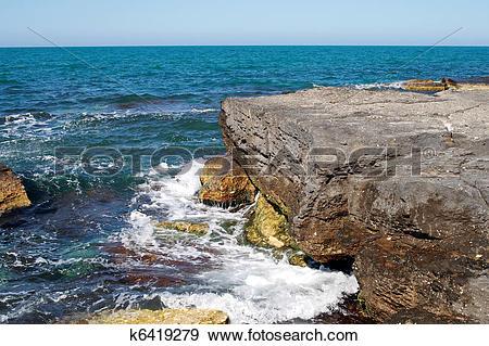 Stock Photograph of Caspian Sea. k6419279.