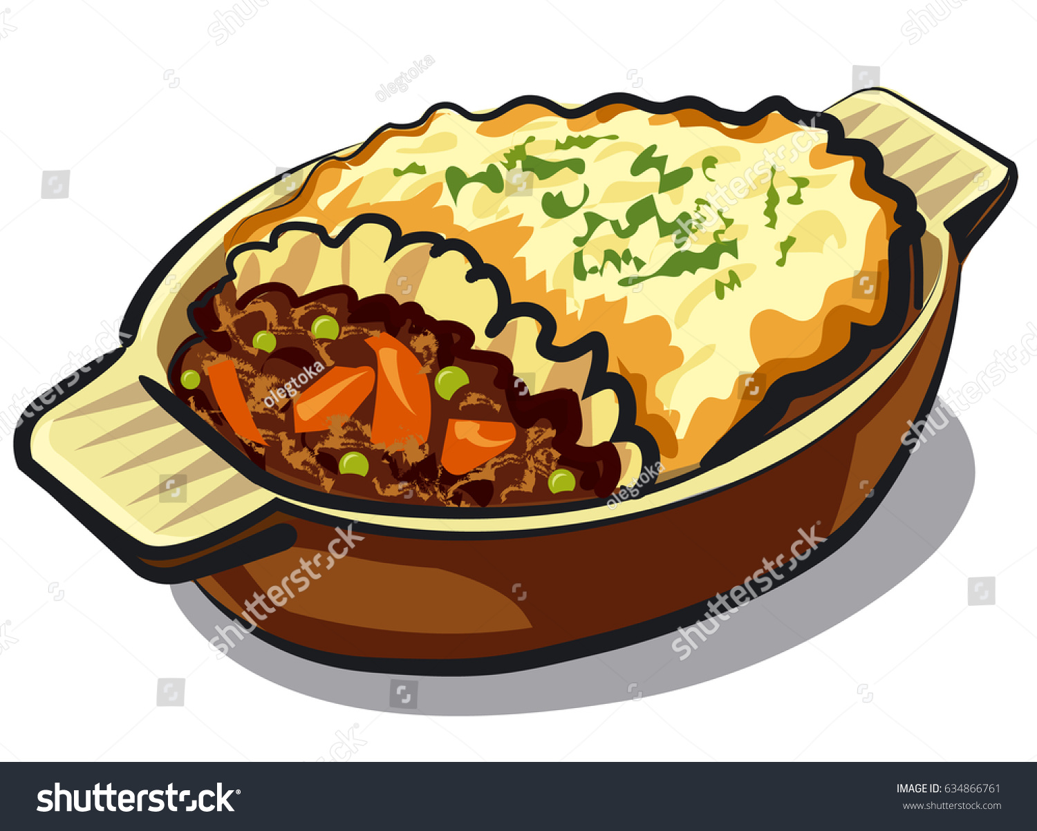 Shepards Pie Clipart.