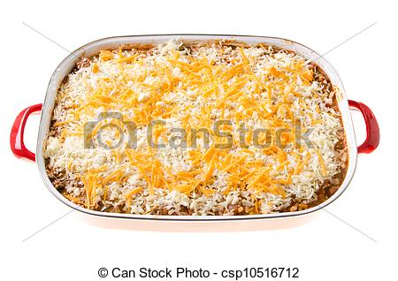 Stock Photography of Cheesy Casserole.