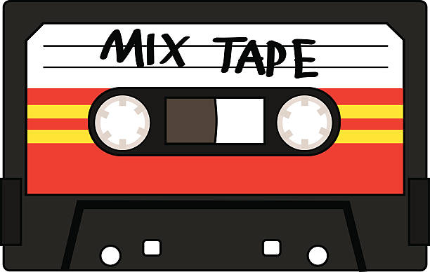 Best Audio Cassette Illustrations, Royalty.