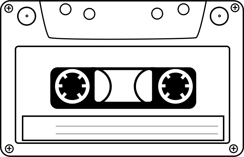 Free Clipart: Tape cassette.