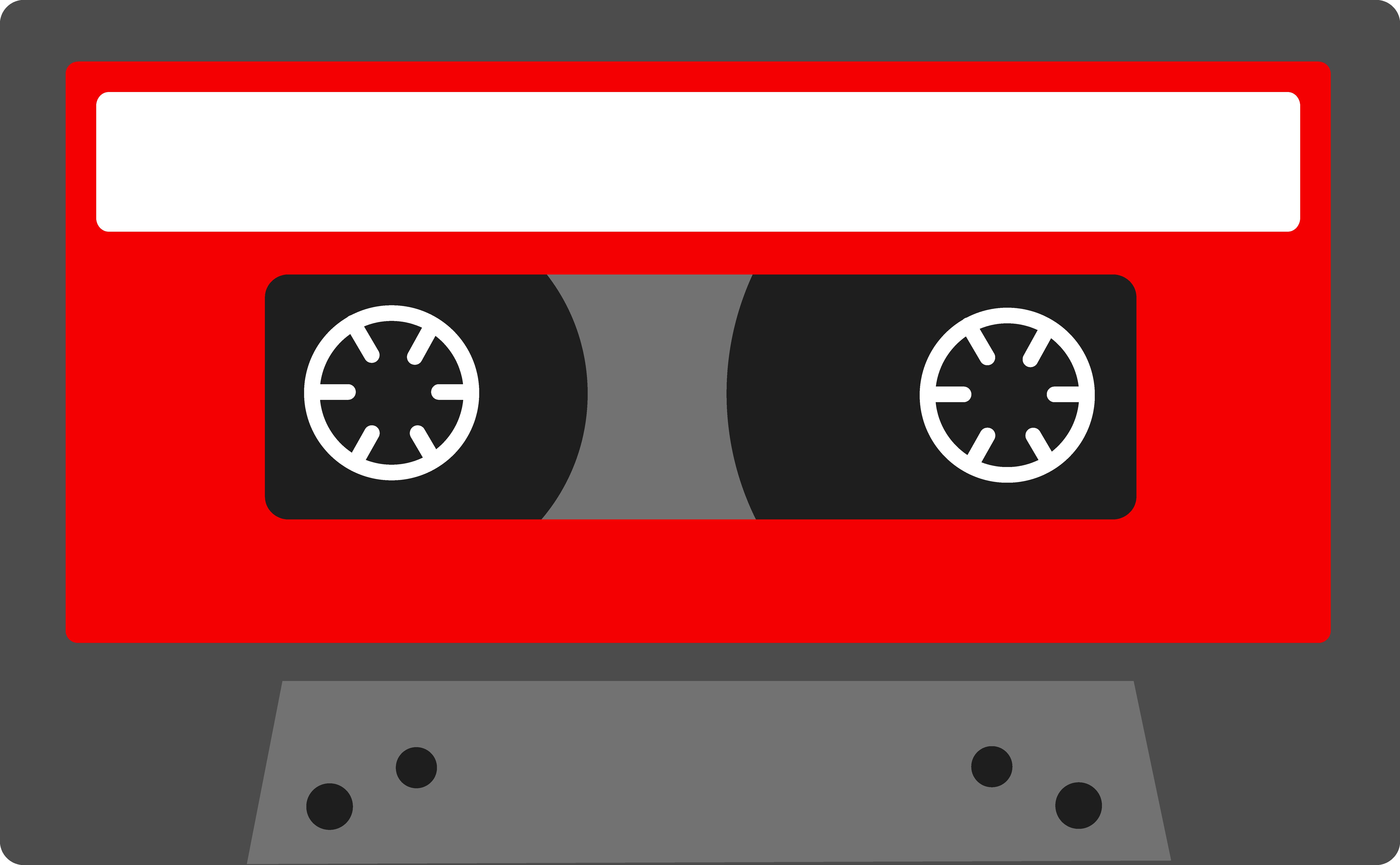 Red Retro Cassette Tape.