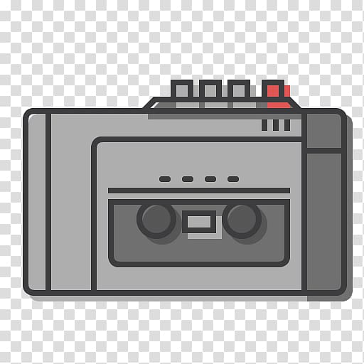 Compact Cassette Tape recorder Walkman, radio transparent.