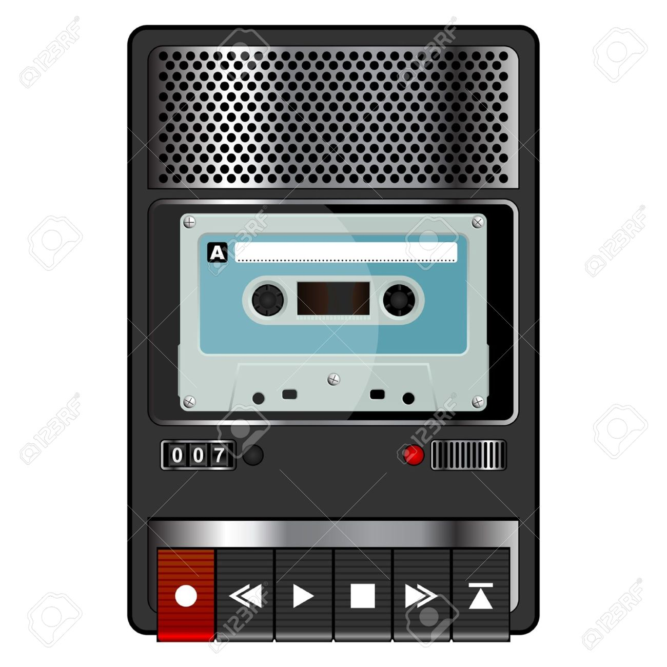 Tape recorder clipart.