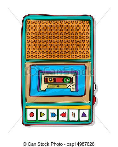 Tape recorder clipart.