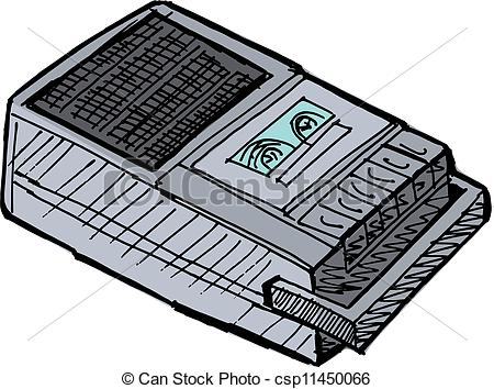 Clip Art Vector of compact tape recorder csp11450066.