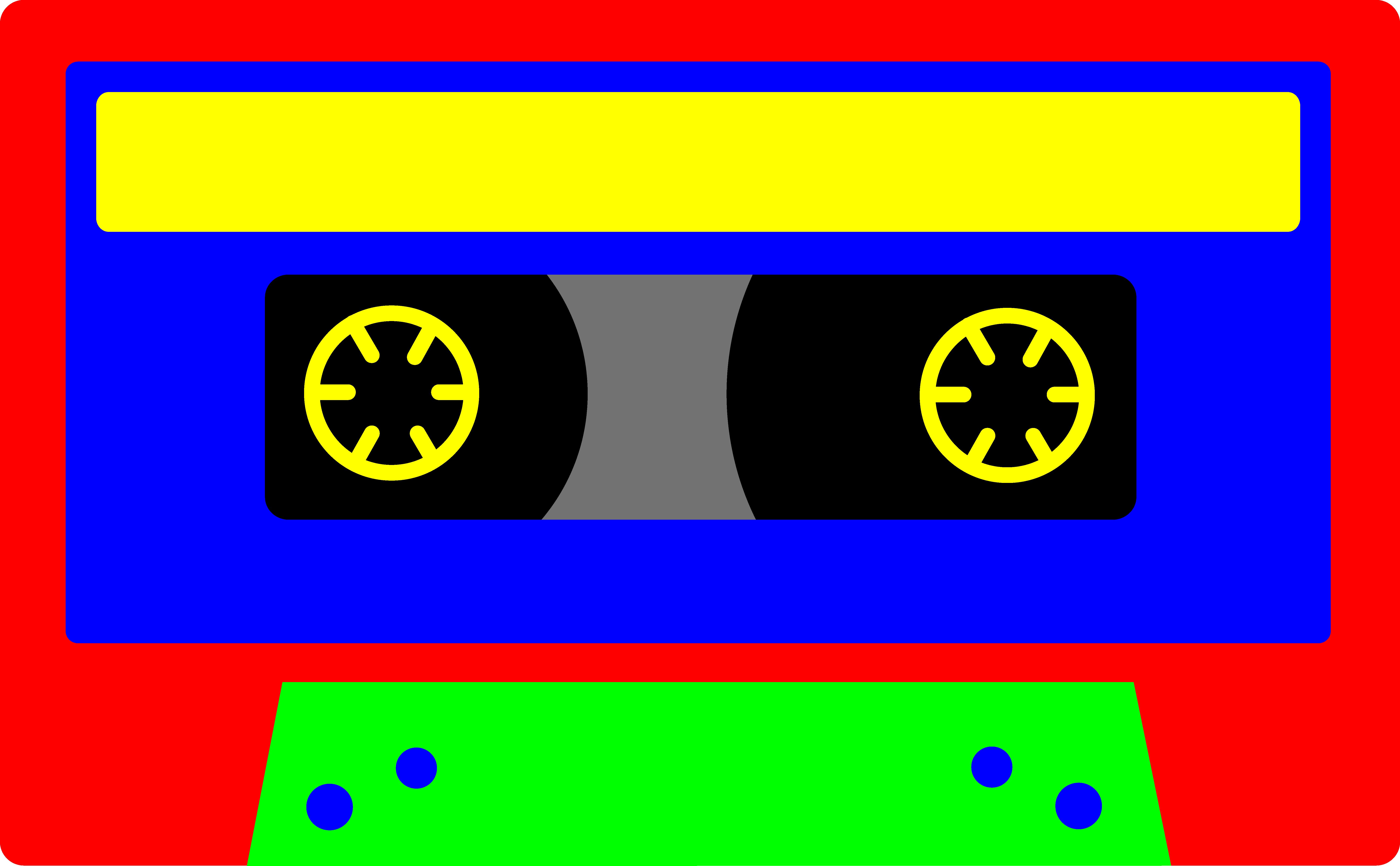 Colorful Kids Cassette Tape.