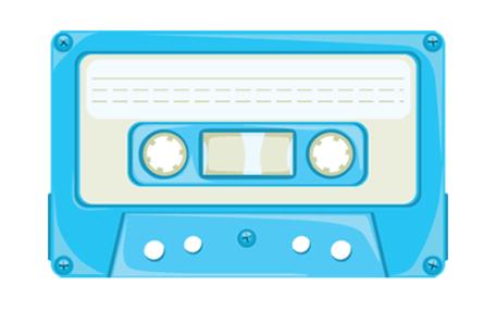 Free Cassette Tape, vector graphics.