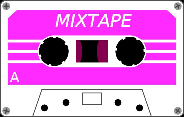 Neon Cassette Tape Clip Art.