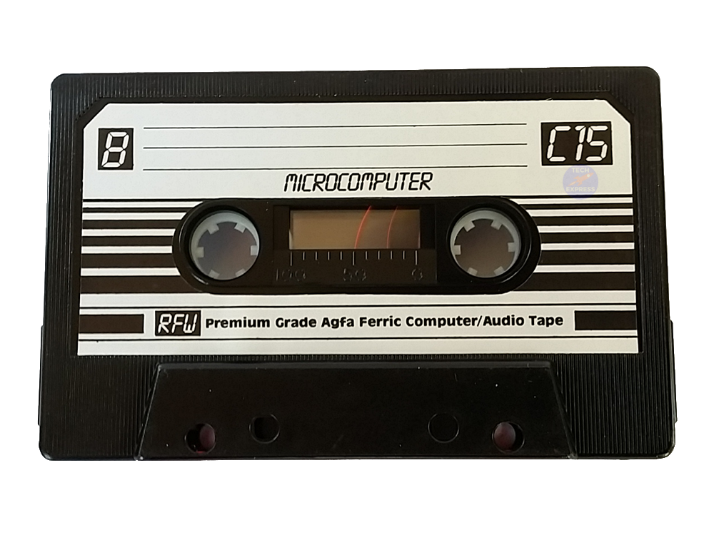 Vintage and Retro Computer Blank Data Audio Cassette Tape.