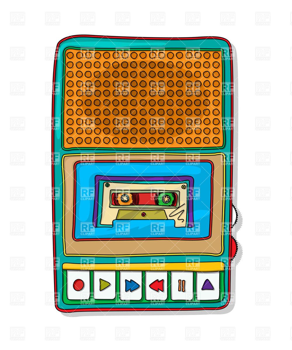 Cassette Tape Recorder Clipart.