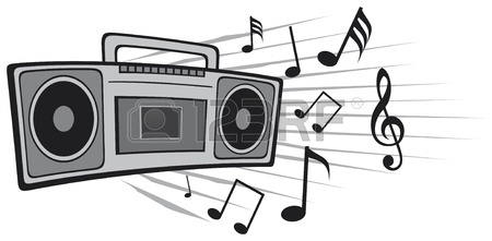 Vector Illustration Cassette Tape Recorder Royalty Free Cliparts.