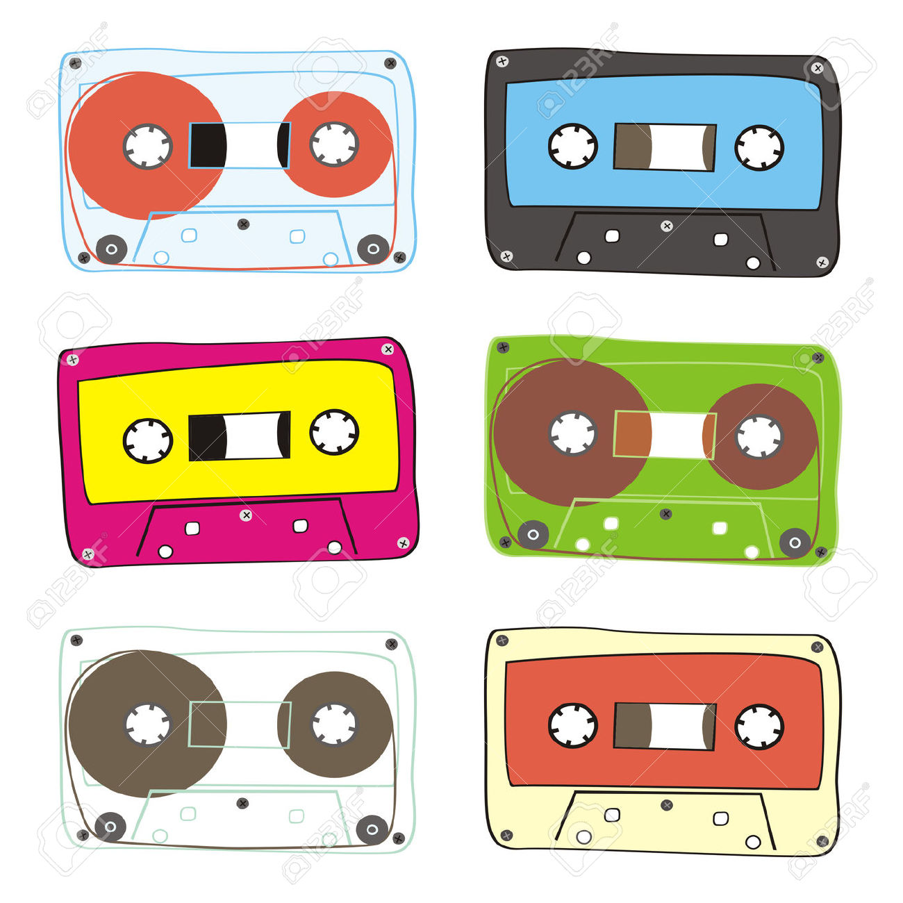 Fully Editable Audio Cassette Royalty Free Cliparts, Vectors, And.