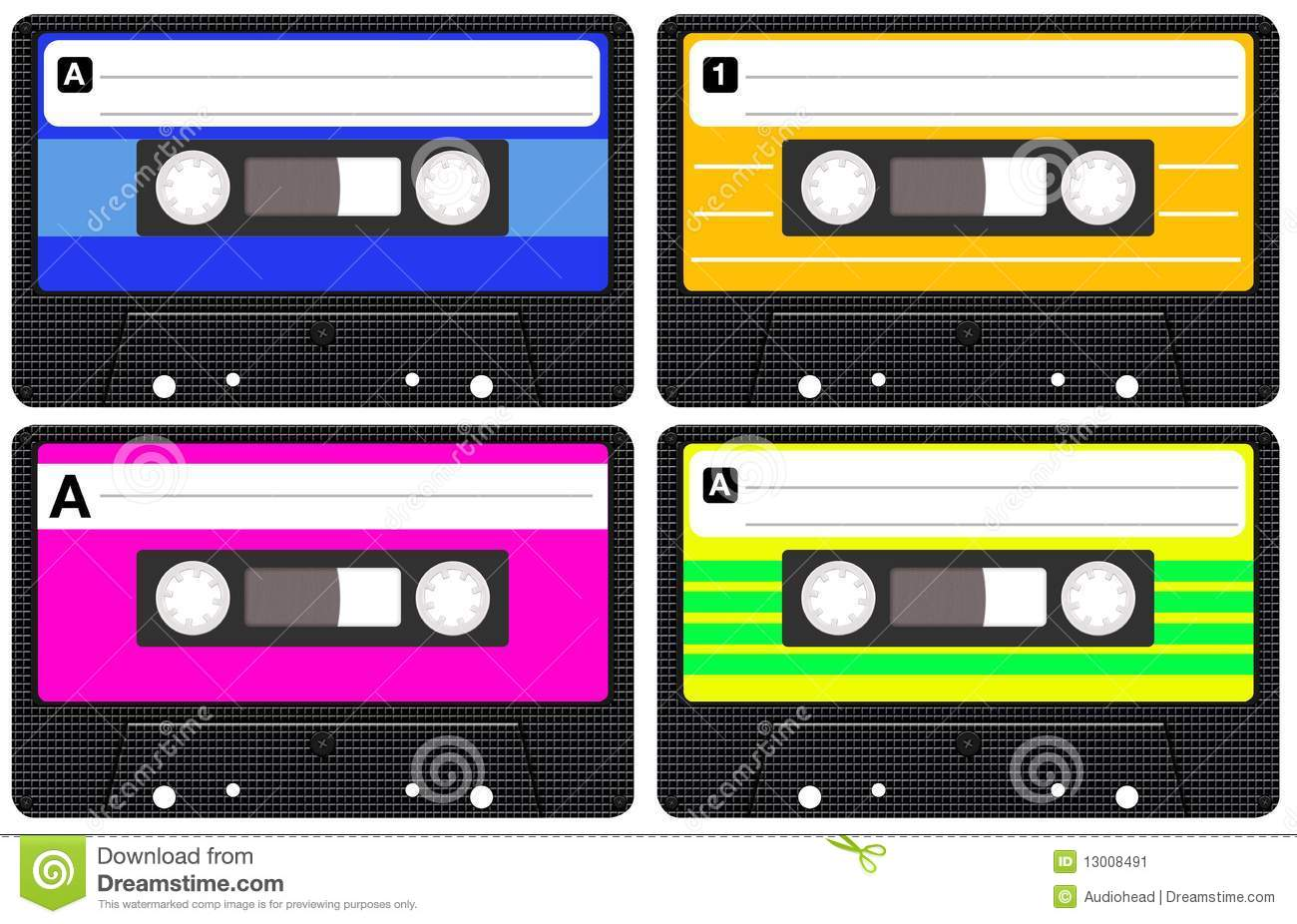 Cassettes clipart - Clipground