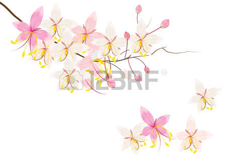 1,291 Pink Flower Tree Vector Cliparts, Stock Vector And Royalty.