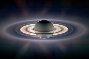 Saturn Photo Backlit By Cassini Probe Clip Art Download.