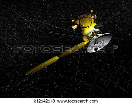Stock Illustration of Cassini spacecraft.
