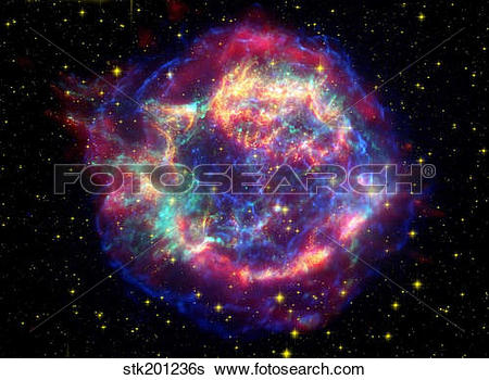 Stock Images of Supernova remnant Cassiopeia A. stk201236s.