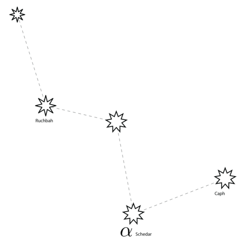 Cassiopeia Constellation coloring page.