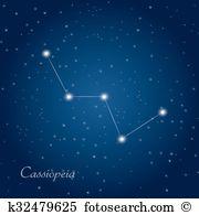 Cassiopeia constellation Clip Art EPS Images. 17 cassiopeia.