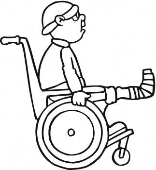 Free clipart black white boy broken leg cast.