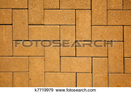 Stock Photograph of pavement pattern made with cast concrete.