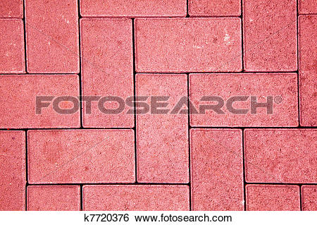 Stock Images of pavement pattern made with cast concrete blocks in.