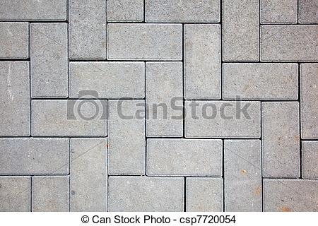 Stock Photo of pavement pattern made with cast concrete blocks in.