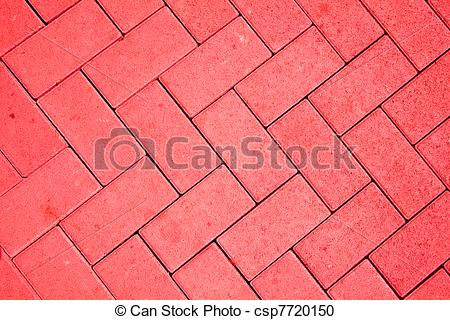Stock Photography of pavement pattern made with cast concrete.