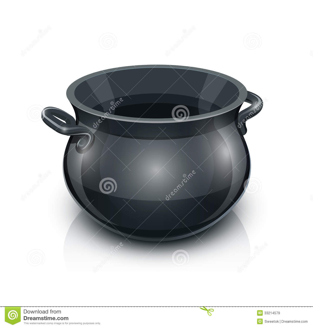 Black Iron Pot Clipart.