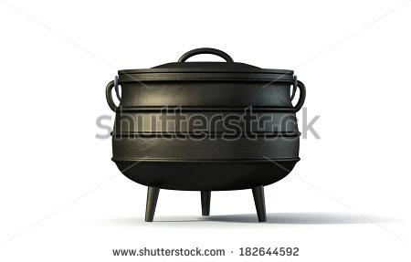 Black Iron Pot Clipart.